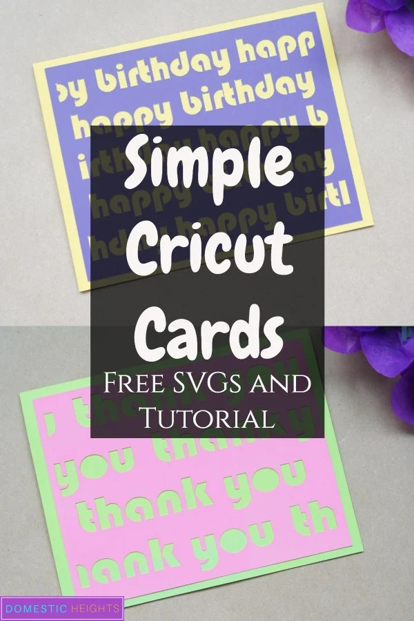 Download Simple Cricut Cards - DOMESTIC HEIGHTS