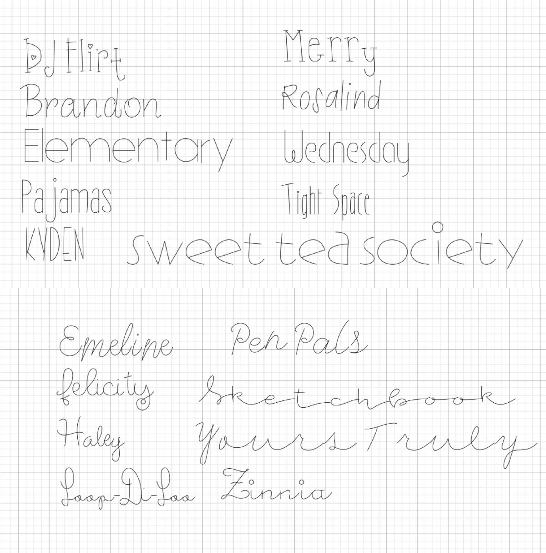Writing fonts cricut