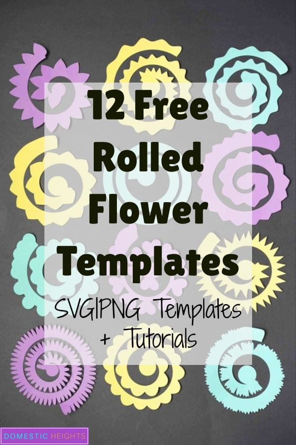 rolled paper flower template free, cricut flower template free