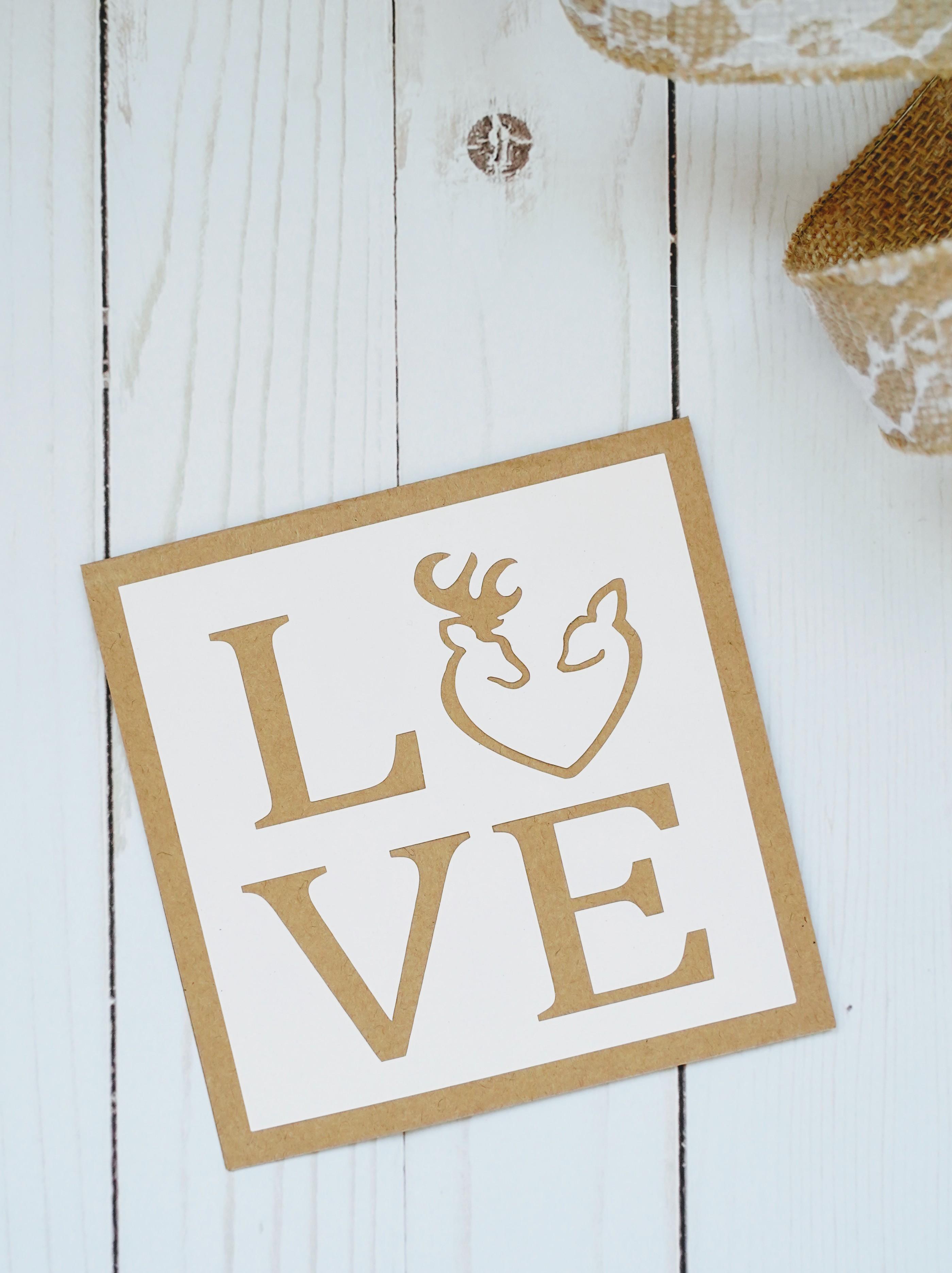diy love cards  cricut card ideas  domestic heights