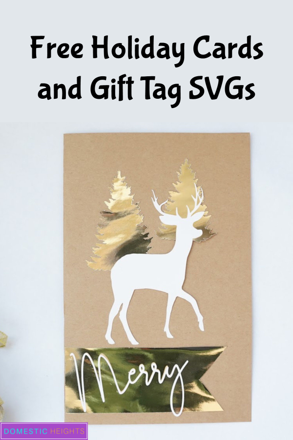 svg christmas cards, layered cards cricut