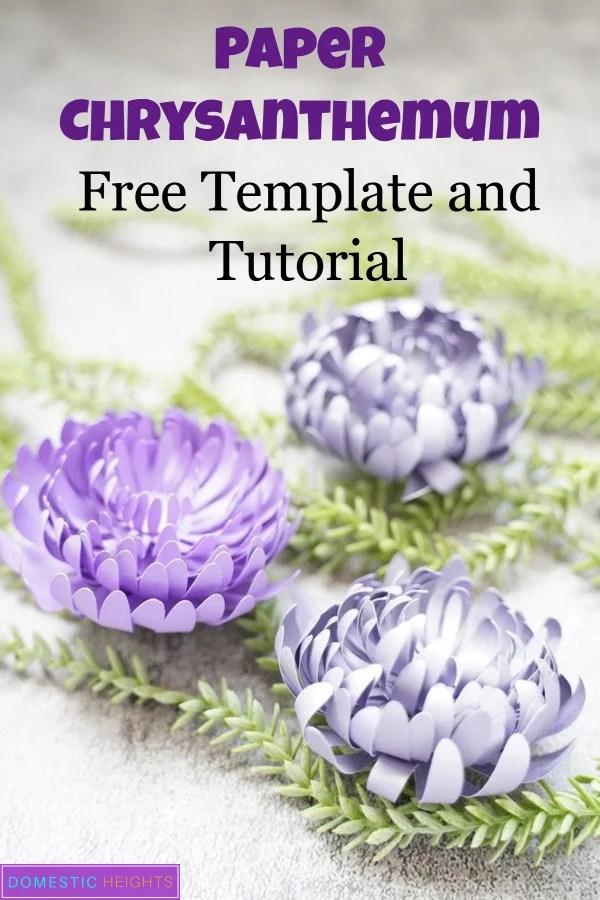 paper chrysanthemum template