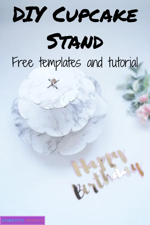 diy cupcake stand template