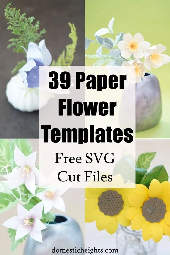 free paper flower templates svg, free rose paper flower template, paper flower templates cricut
