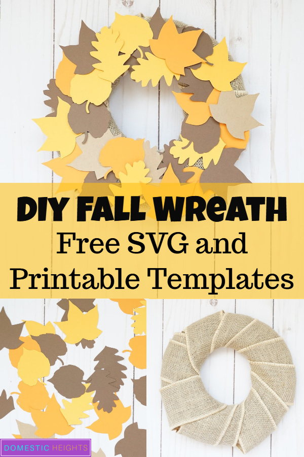 DIY fall paper wreath