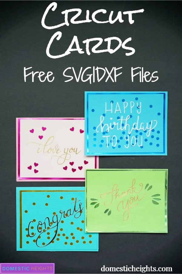 cricut card project with free svg cut file templates