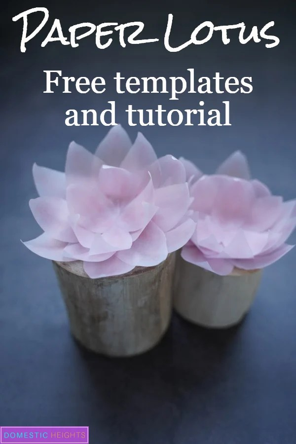 DIY paper lotus flower templates and tutoria