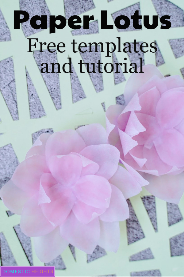 DIY paper lotus flower templates and tutoria