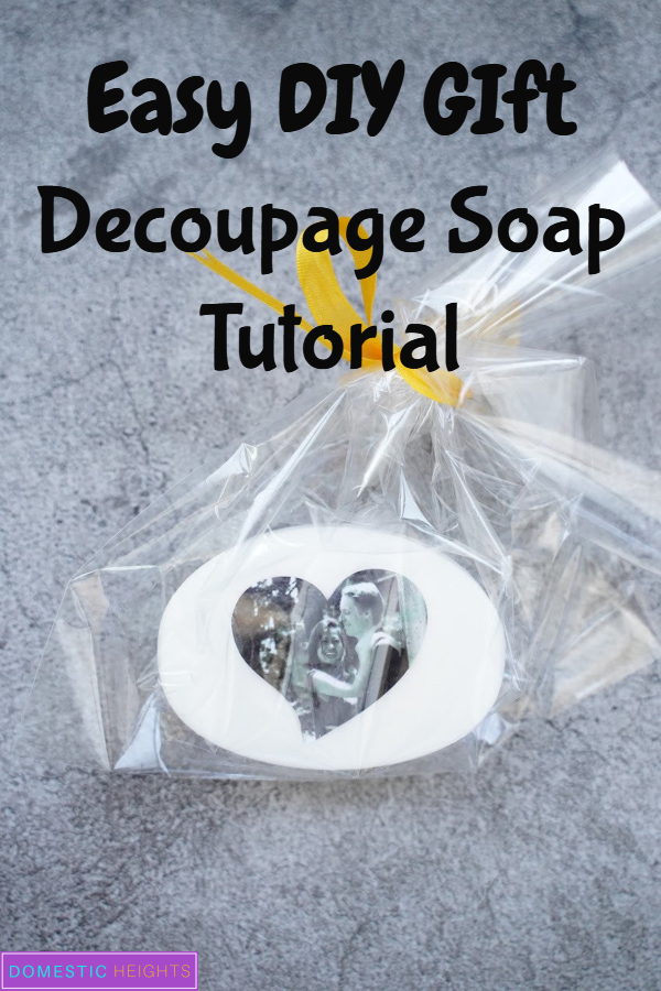 decoupage soap