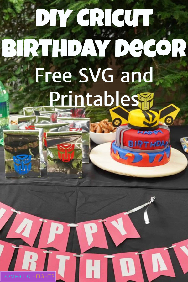 DIY cricut kids birthday decor