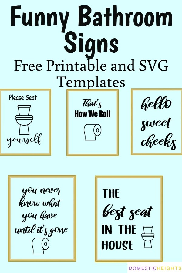 funny bathroom signs please seat yourself svg trendy svg files