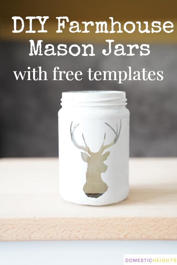 chalkboard mason jars