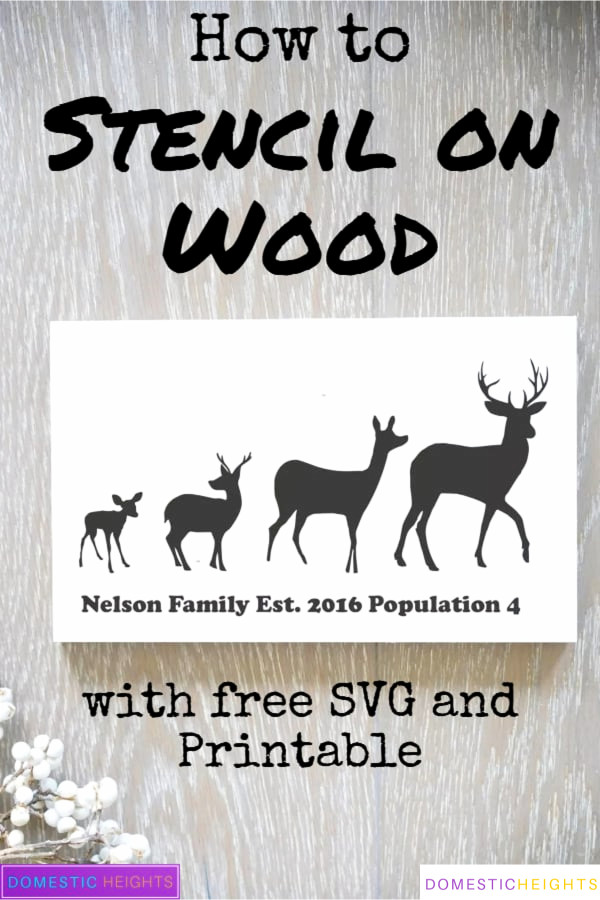 stencil on wood, free svg and printable template, DIY home decor wood sign