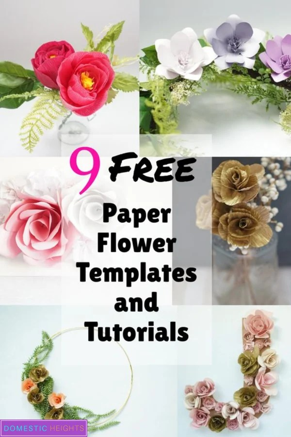 Free paper flower SVG and printable templates and tutorials