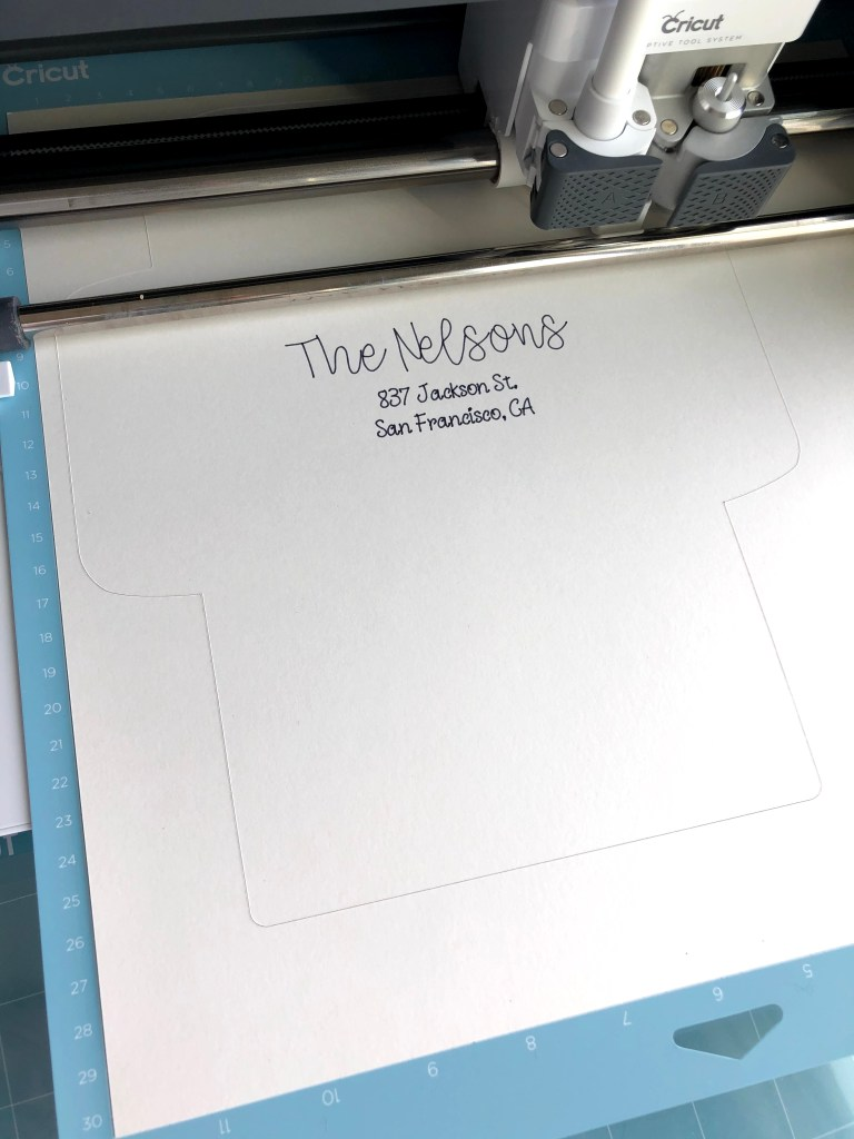 how to write on envelope with cricut