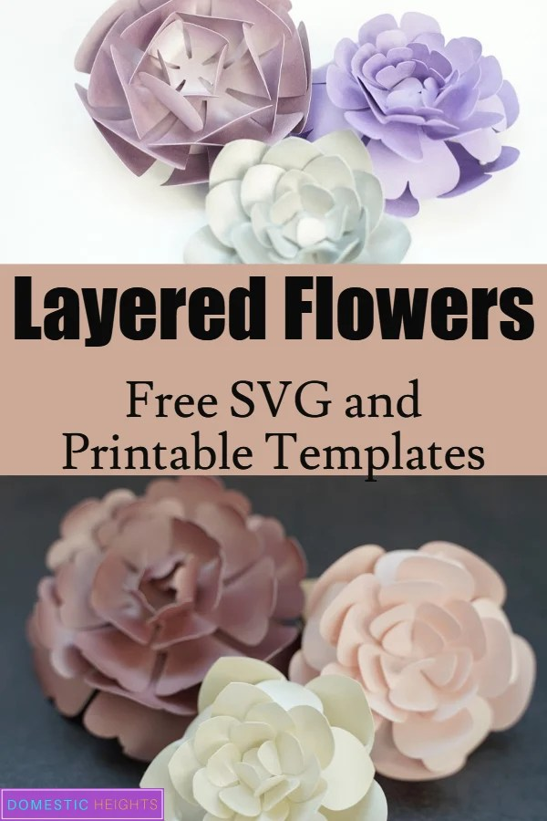 five petal paper flower template