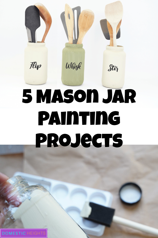 DIY jar crafts, storage decorations ideas, rustic easy paint project