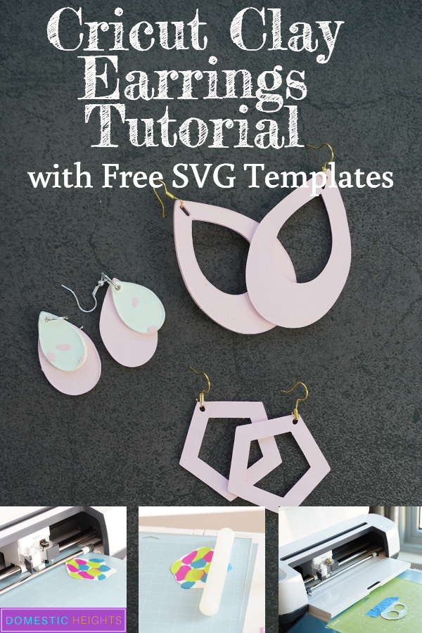 polymer clay earring techniques and tutorial for Cricut