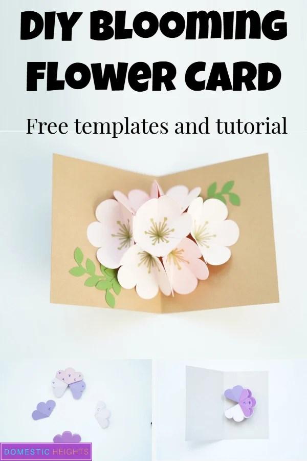 cricut flower popup card
