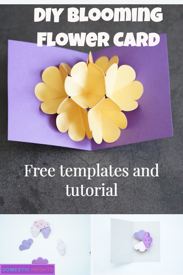 flower popup card tutorial