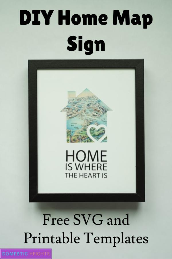 easy DIY home decor map sign