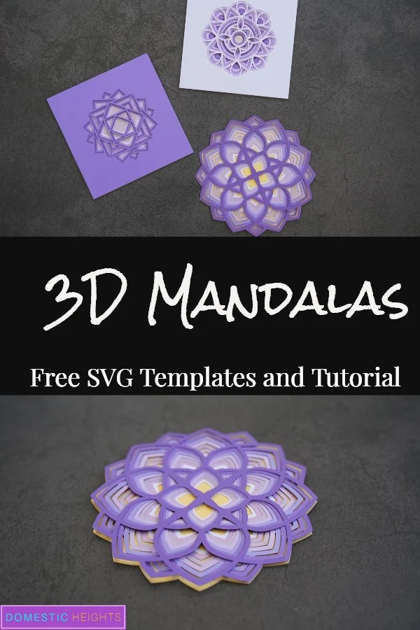 3D Layered Mandala SVG