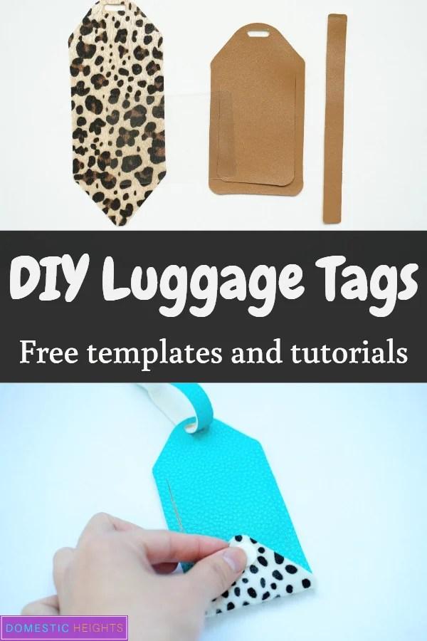 DIY leather luggage tag