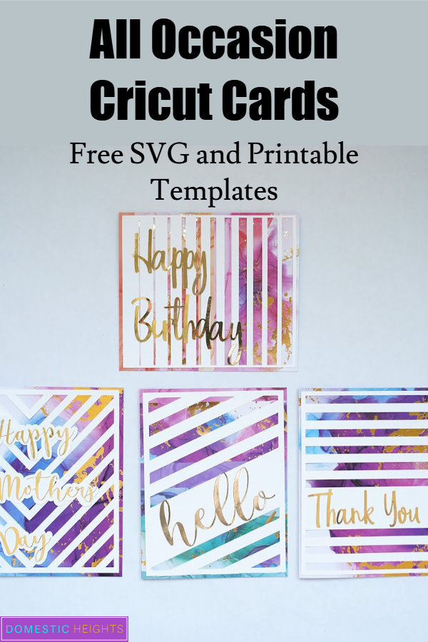 easy all occasion cricut cards