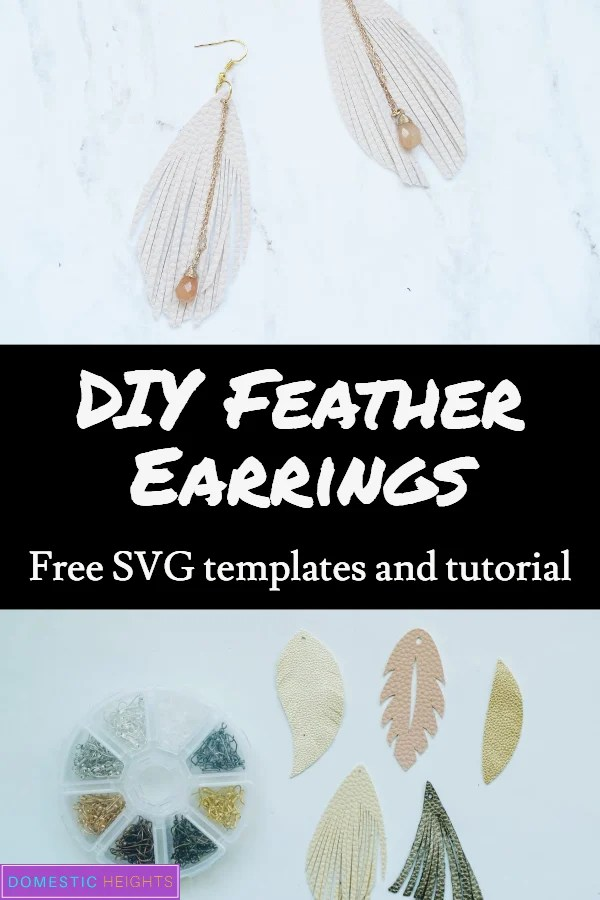 Faux Leather Cricut Earrings