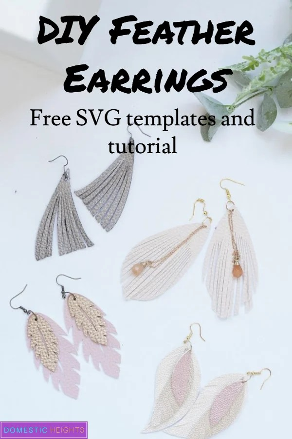 Cricut leather earrings