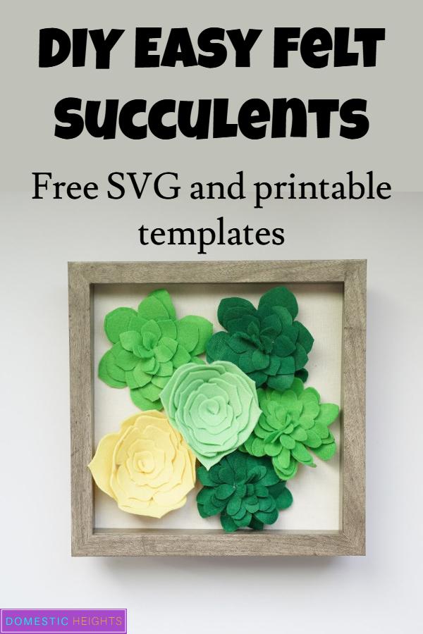 Cricut Felt Succulent SVG