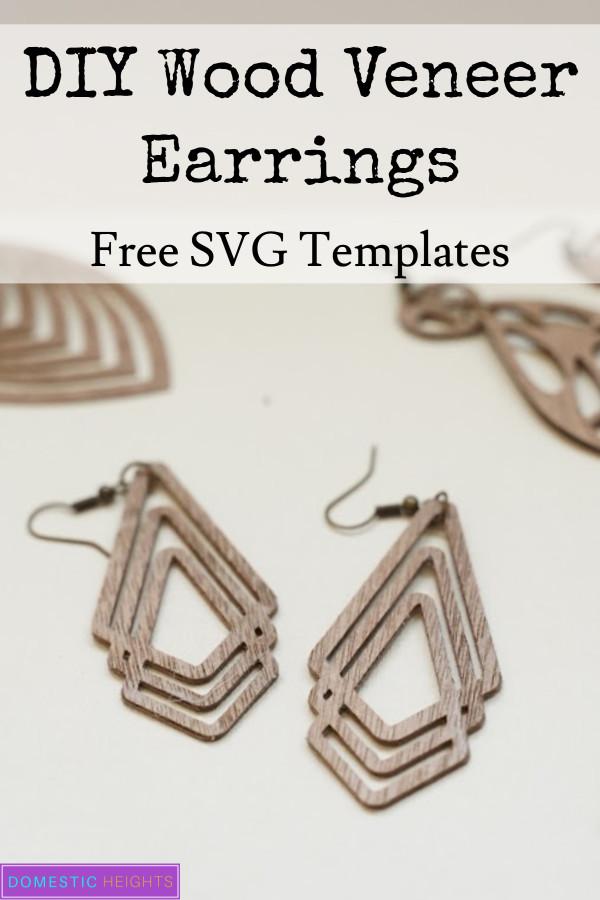 cricut wood earrings