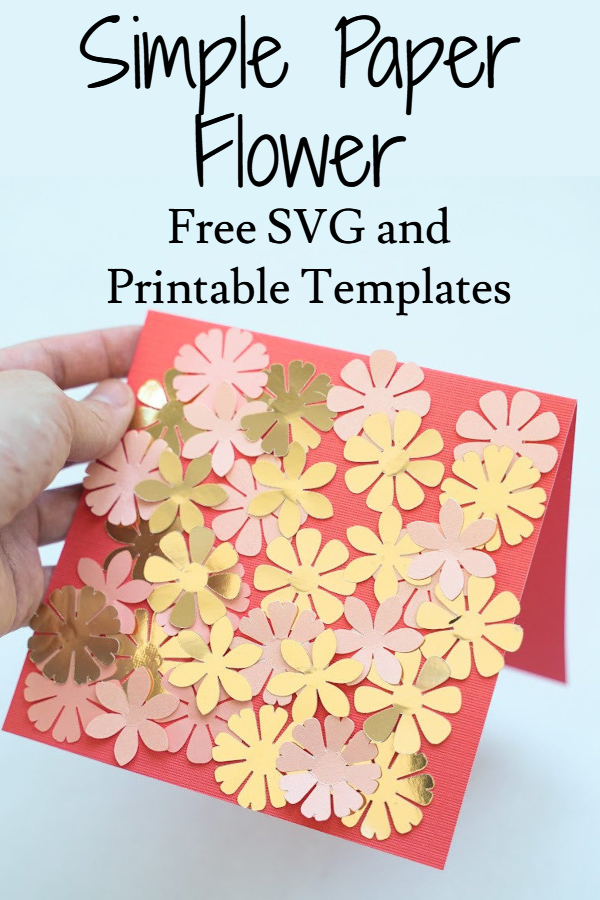 Cricut flower card SVG
