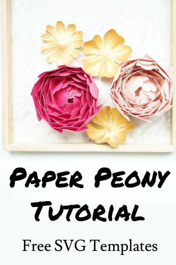 Cricut paper peony template