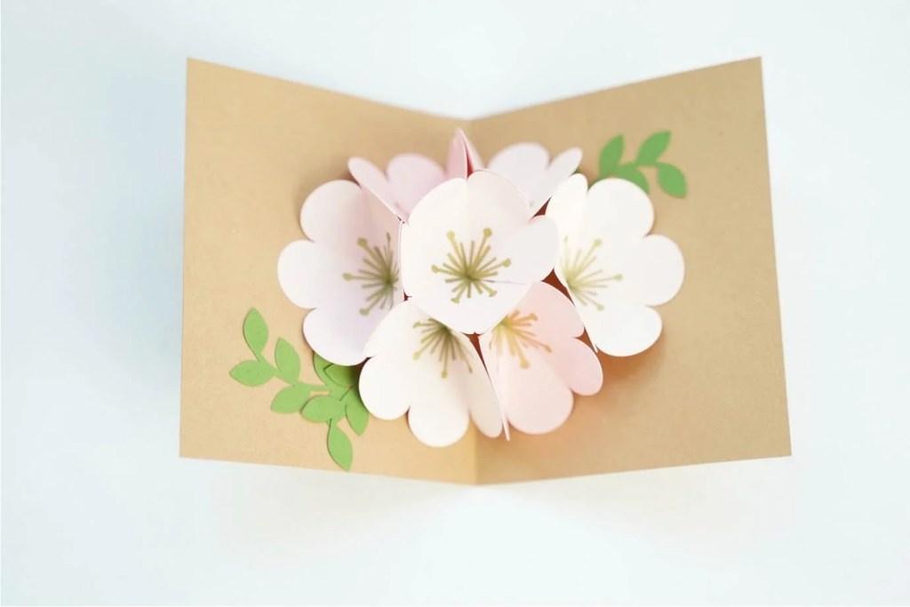 pop up flower bouquet svg