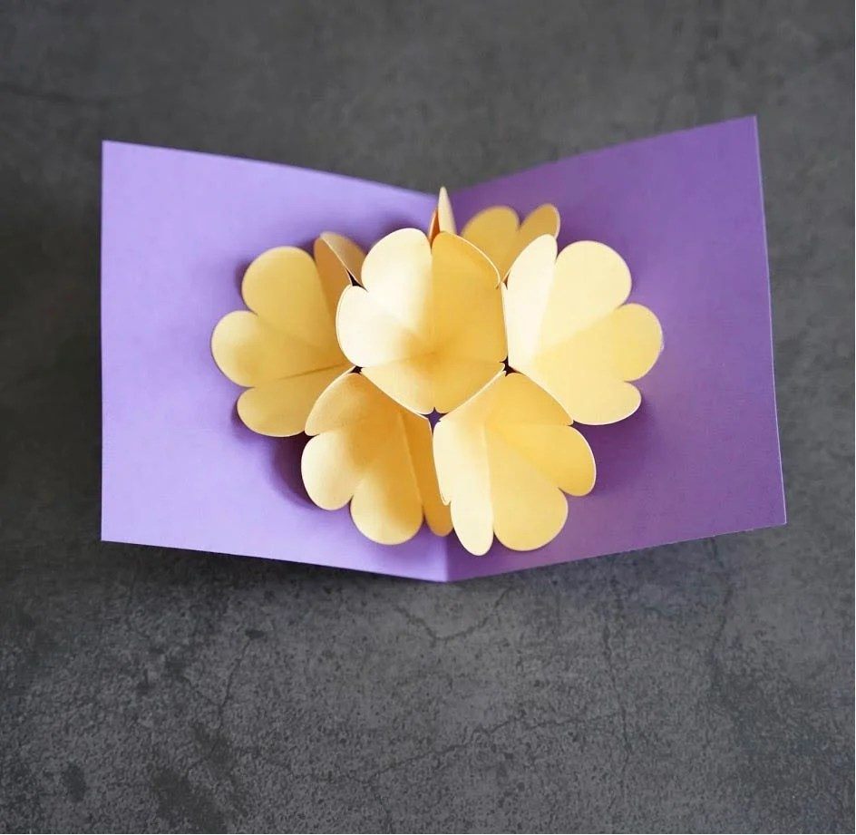pop up flower bouquet cricut