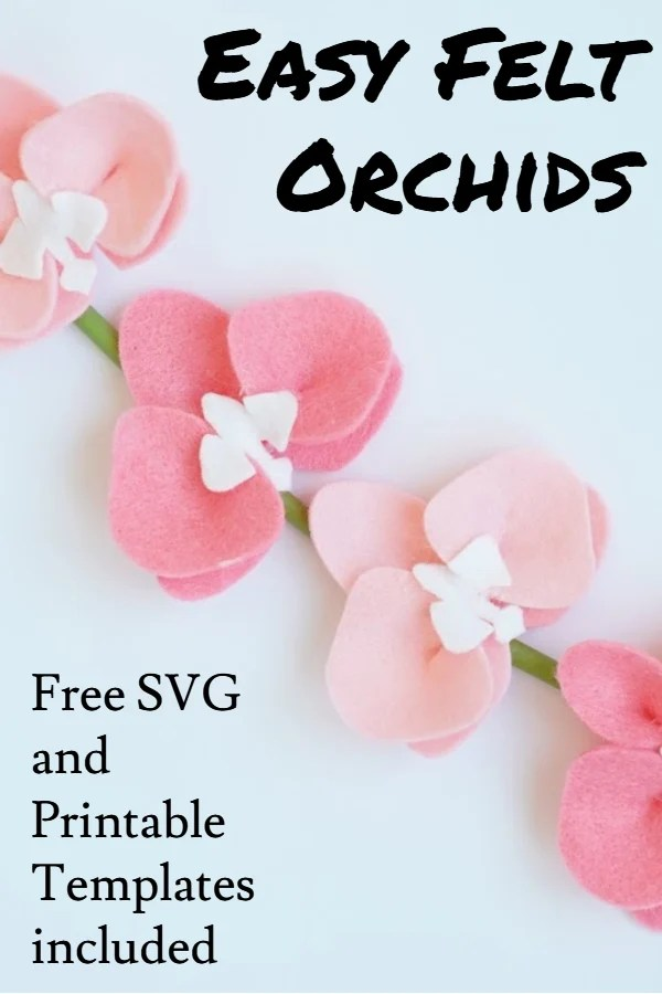 Easy felt orchid flower tutorial