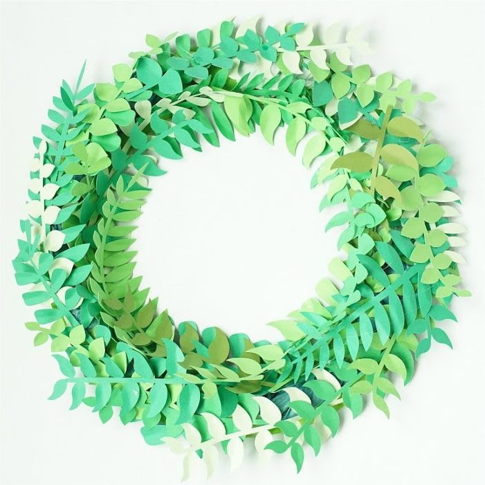 Foliage wreath