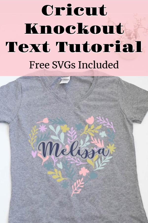 Cricut knockout text tutorial