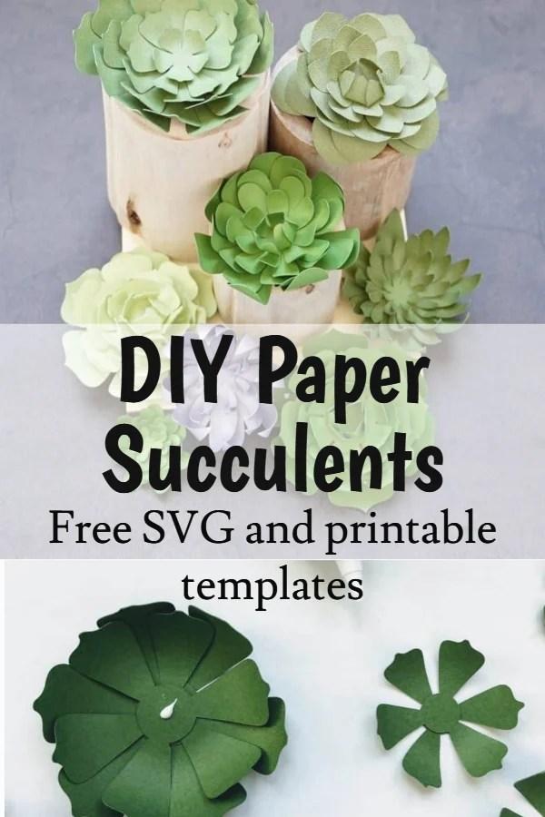 paper succulent template