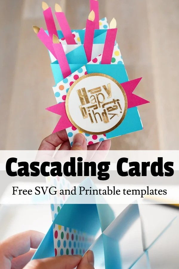 cascading card template