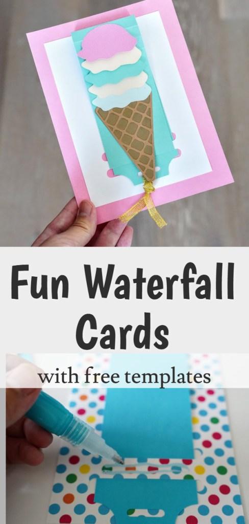 DIY waterfall cardmaking