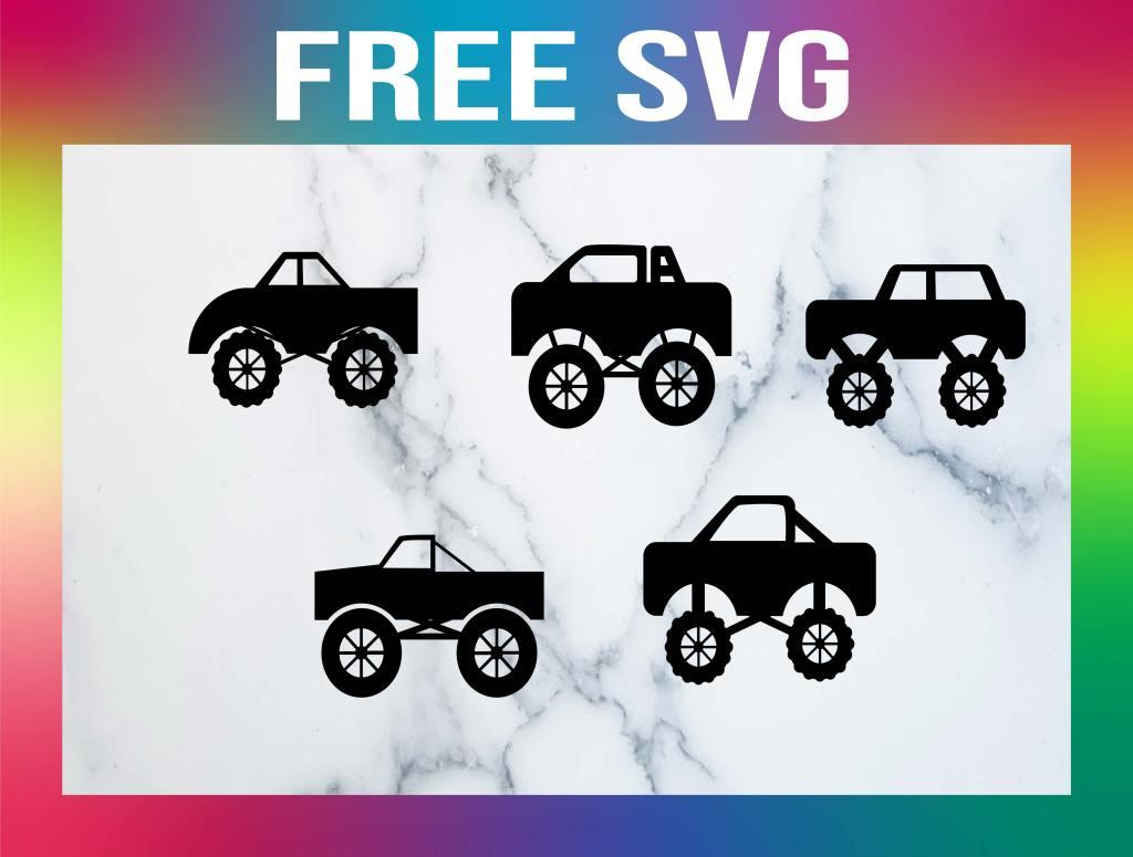 Free Monster Truck SVGs