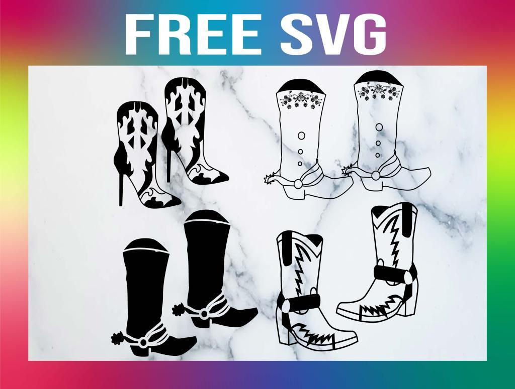 Free Cowboy Boot SVG