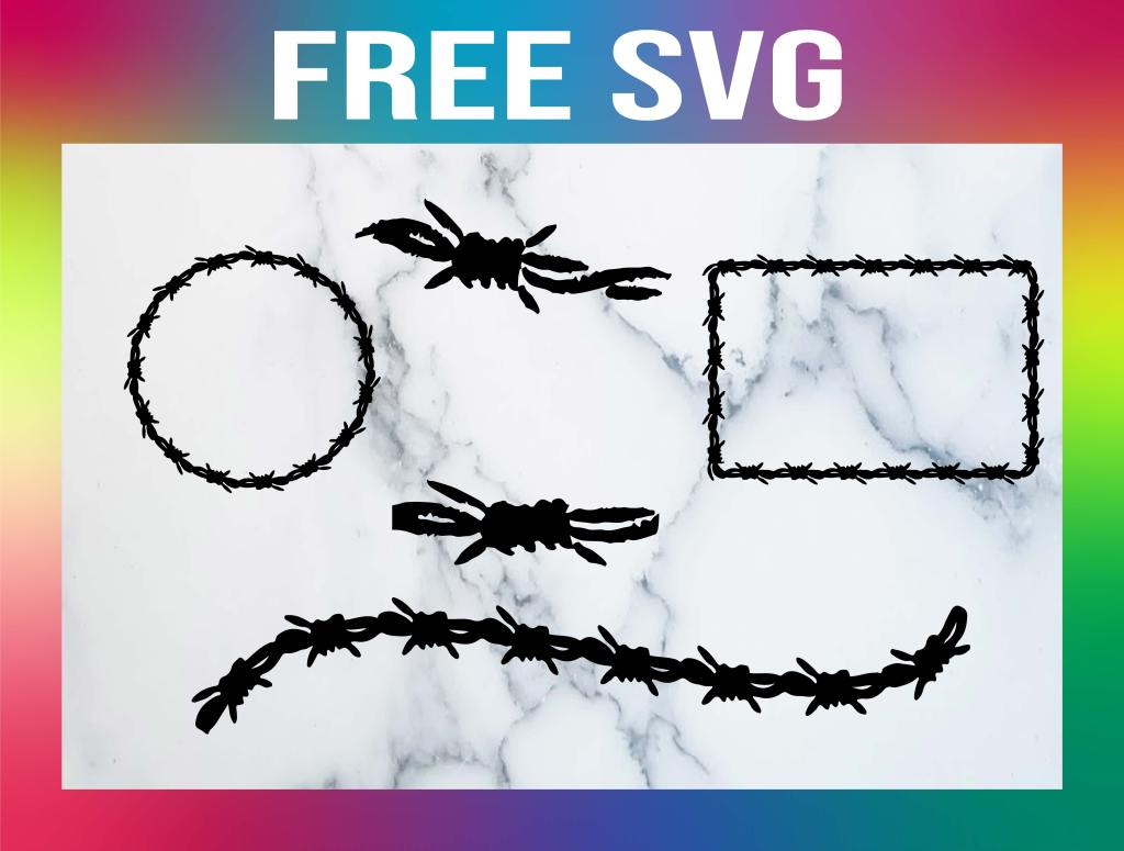 Free Barbed Wire SVG