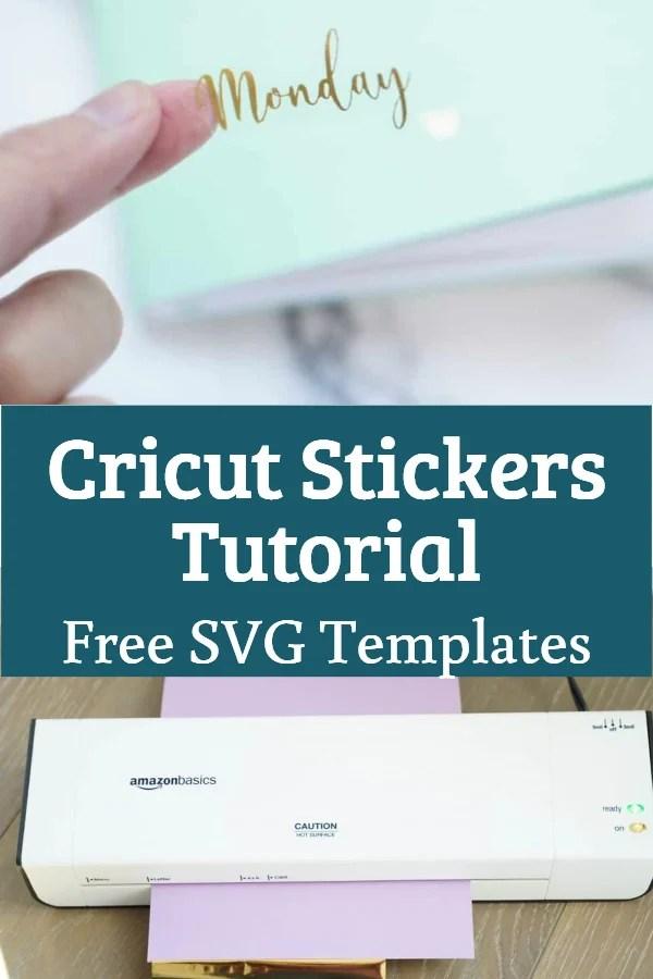 cricut sticker tutorial