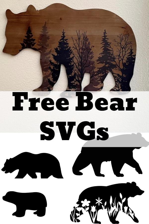 free bear silhouette svg