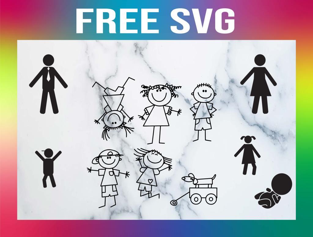 Free Stick Figure SVG