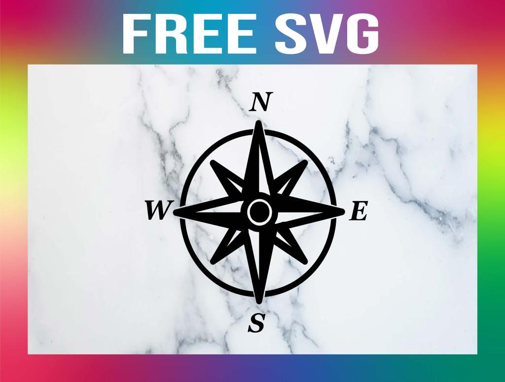 Free Compass Rose SVG