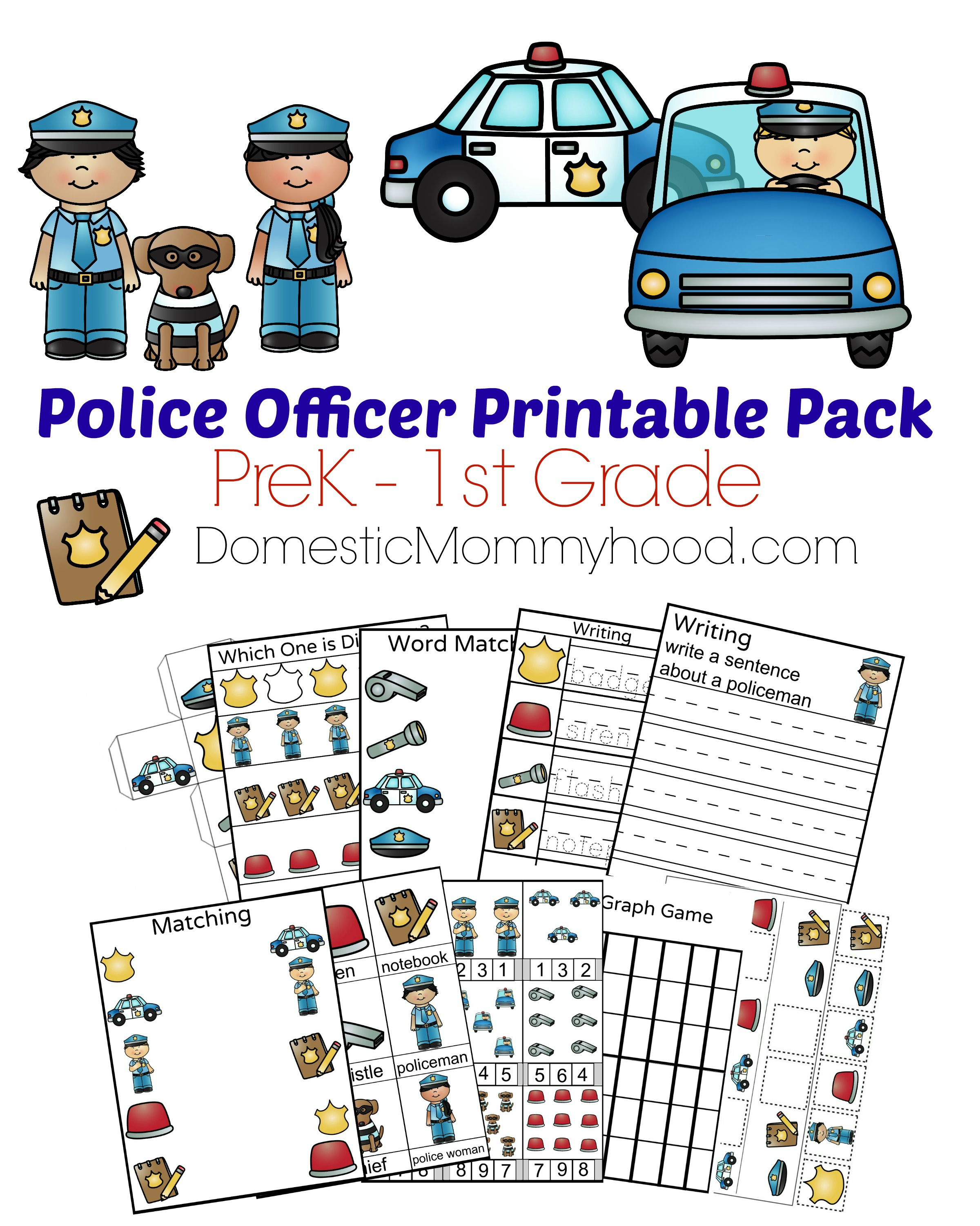 Police Badge Worksheet For Kindergarten